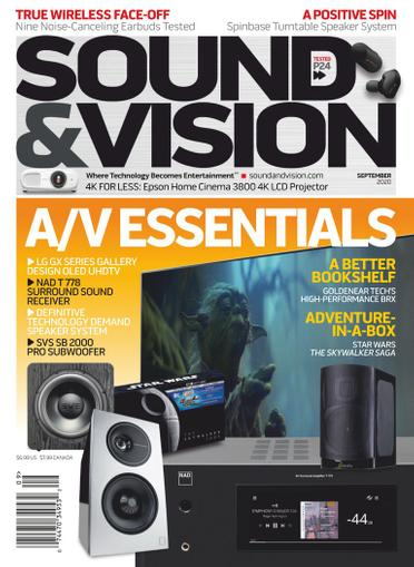Sound & Vision Magazine August 1st, 2020 Issue Cover