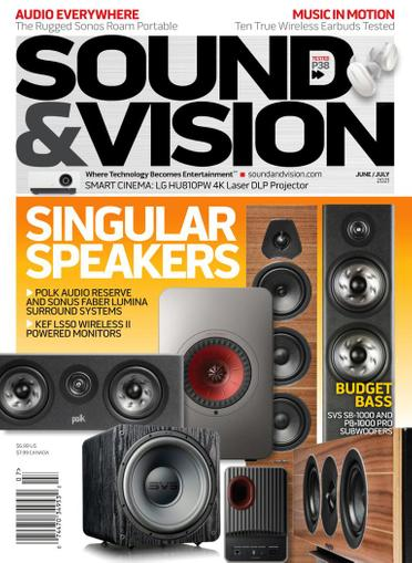 Sound & Vision Magazine June 1st, 2021 Issue Cover