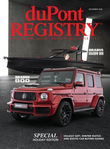 Dupont Registry Magazine December 1st, 2020 Issue Cover