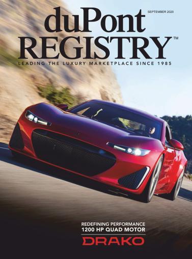 Dupont Registry Magazine September 1st, 2020 Issue Cover
