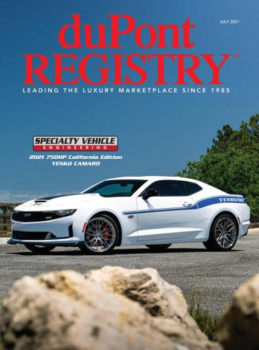 Dupont Registry Magazine July 1st, 2021 Issue Cover