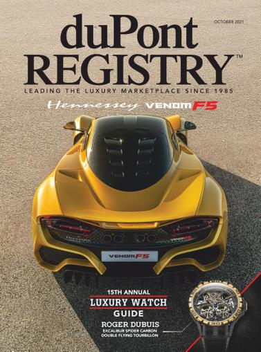 Dupont Registry Magazine October 1st, 2021 Issue Cover