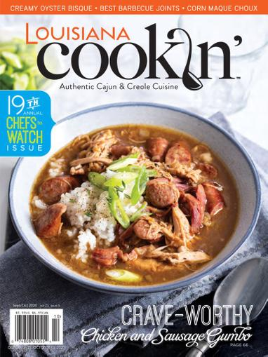 Louisiana Cookin Magazine September 1st, 2020 Issue Cover