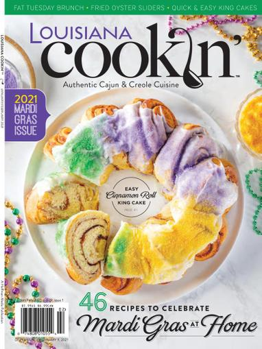Louisiana Cookin Magazine January 1st, 2021 Issue Cover
