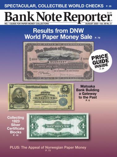 Banknote Reporter Magazine August 1st, 2020 Issue Cover