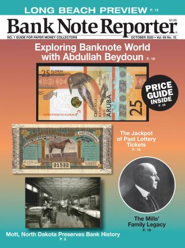 Banknote Reporter Magazine October 1st, 2020 Issue Cover