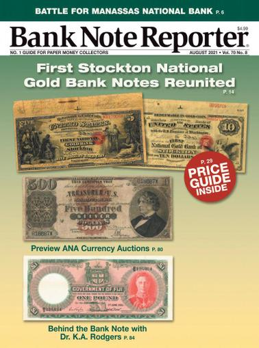 Banknote Reporter Magazine August 1st, 2021 Issue Cover