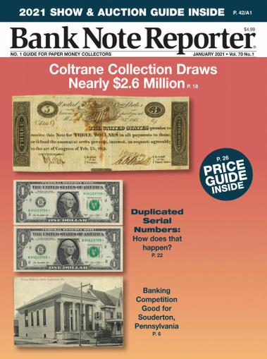 Banknote Reporter Magazine January 1st, 2021 Issue Cover