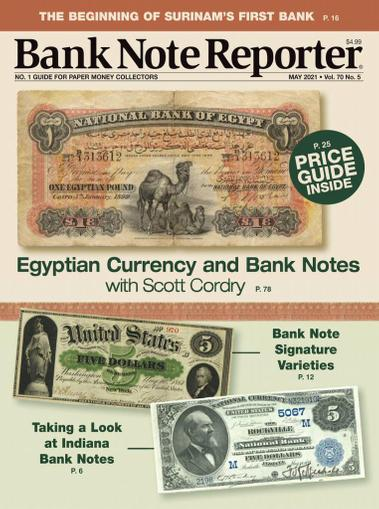 Banknote Reporter Magazine May 1st, 2021 Issue Cover