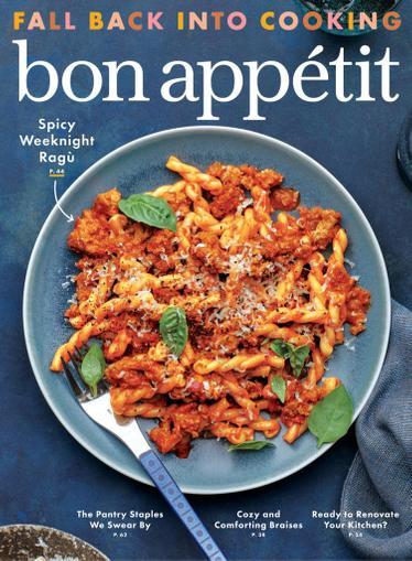 Bon Appetit Magazine September 1st, 2021 Issue Cover