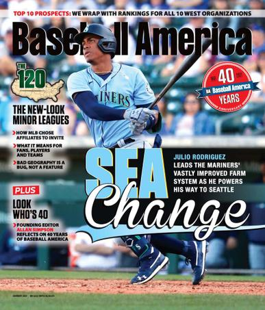 Baseball America Magazine January 1st, 2021 Issue Cover