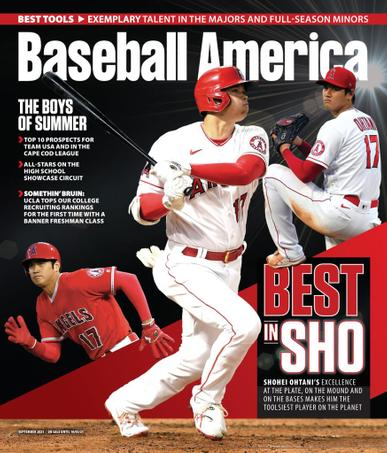 Baseball America Magazine September 1st, 2021 Issue Cover