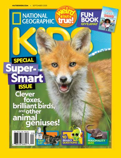 National Geographic Kids Magazine September 1st, 2020 Issue Cover