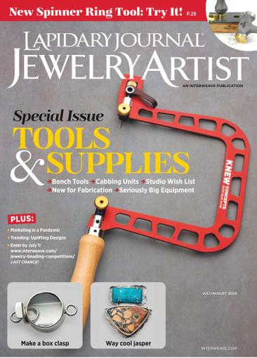Lapidary Journal Jewelry Artist Magazine July 1st, 2020 Issue Cover