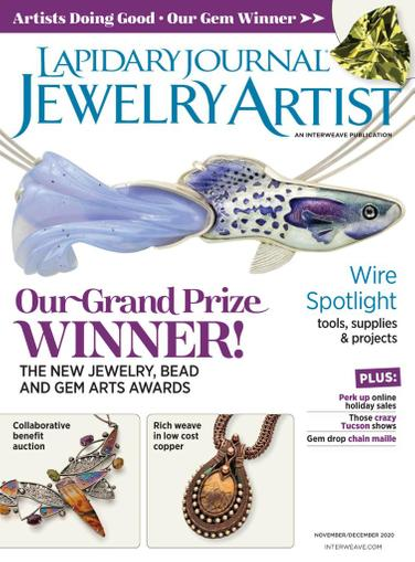 Lapidary Journal Jewelry Artist Magazine November 1st, 2020 Issue Cover