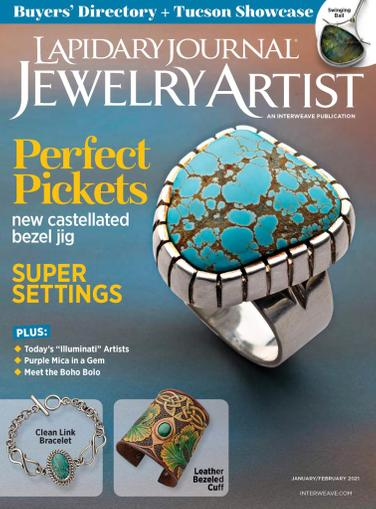 Lapidary Journal Jewelry Artist Magazine January 1st, 2021 Issue Cover