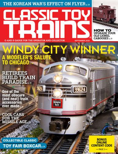 Classic Toy Trains Magazine September 1st, 2020 Issue Cover