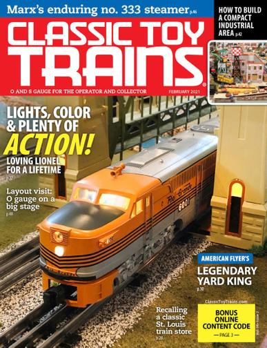 Classic Toy Trains Magazine February 1st, 2021 Issue Cover