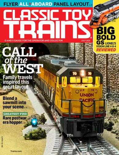 Classic Toy Trains Magazine July 1st, 2021 Issue Cover