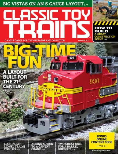 Classic Toy Trains Magazine March 1st, 2021 Issue Cover