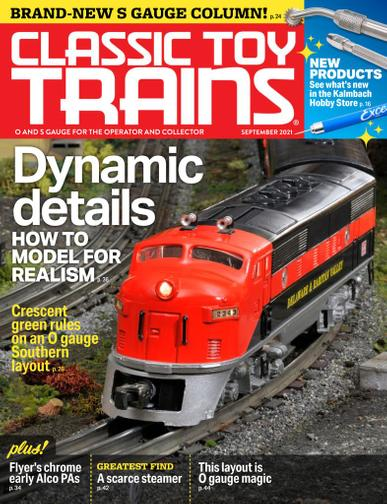Classic Toy Trains Magazine September 1st, 2021 Issue Cover
