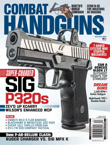 Combat Handguns Magazine November 1st, 2020 Issue Cover