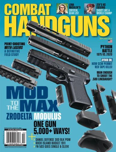 Combat Handguns Magazine September 1st, 2020 Issue Cover