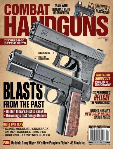 Combat Handguns Magazine January 1st, 2021 Issue Cover