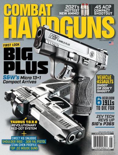 Combat Handguns Magazine July 1st, 2021 Issue Cover