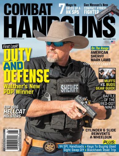Combat Handguns Magazine May 1st, 2021 Issue Cover