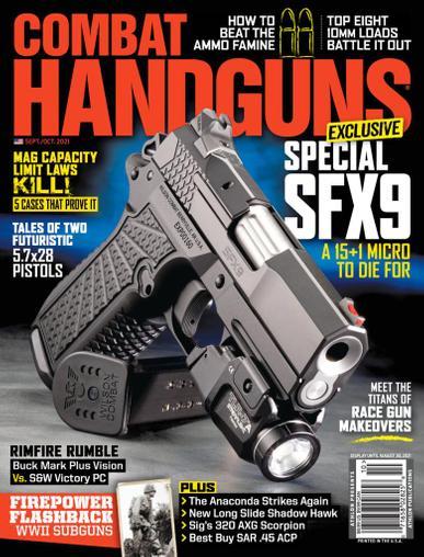 Combat Handguns Magazine September 1st, 2021 Issue Cover