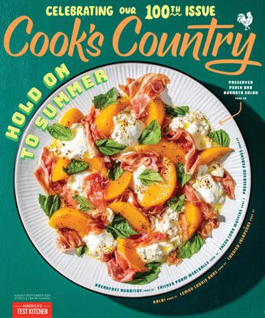 Cook's Country Magazine August 1st, 2021 Issue Cover