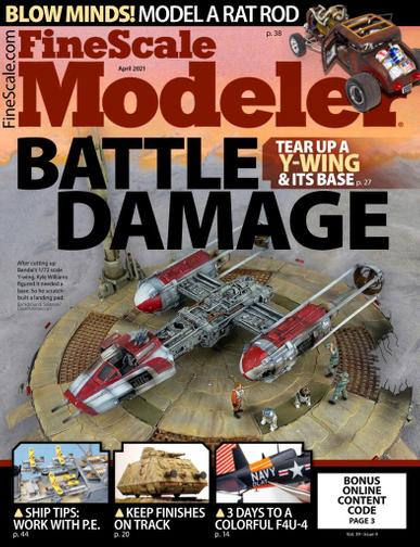 Finescale Modeler Magazine April 1st, 2021 Issue Cover