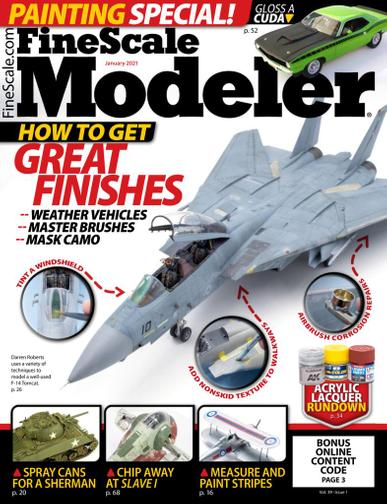 Finescale Modeler Magazine January 1st, 2021 Issue Cover