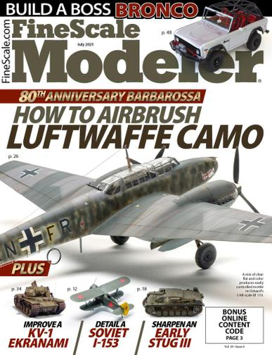 Finescale Modeler Magazine July 1st, 2021 Issue Cover