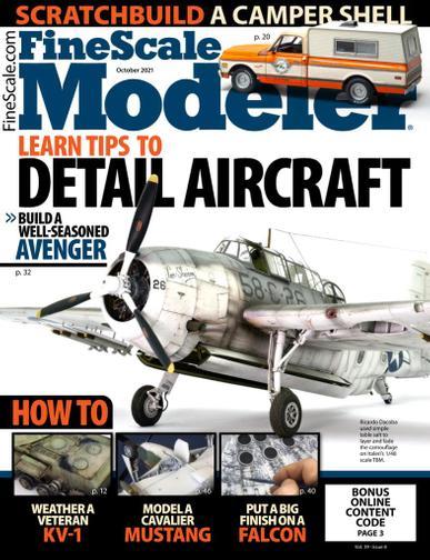 Finescale Modeler Magazine October 1st, 2021 Issue Cover