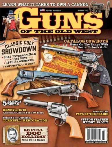 Guns Of The Old West Magazine January 1st, 2021 Issue Cover