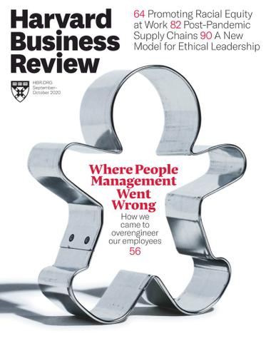 Harvard Business Review Magazine September 1st, 2020 Issue Cover