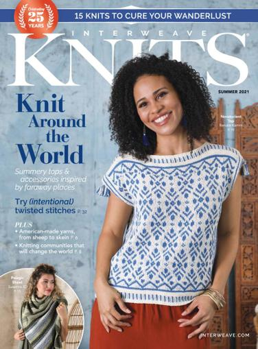 Interweave Knits Magazine April 1st, 2021 Issue Cover