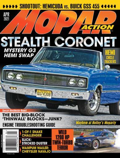 Mopar Action Magazine April 1st, 2021 Issue Cover