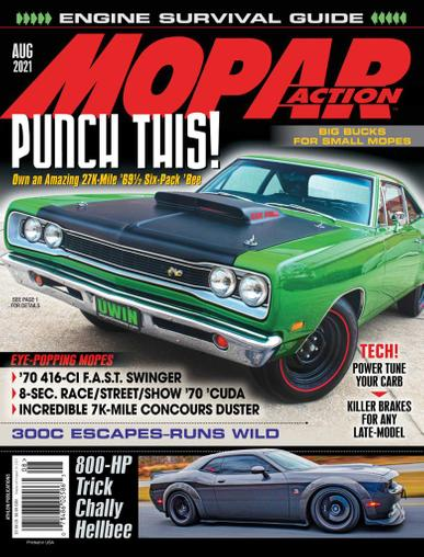 Mopar Action Magazine August 1st, 2021 Issue Cover