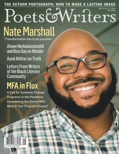 Poets & Writers Magazine September 1st, 2020 Issue Cover
