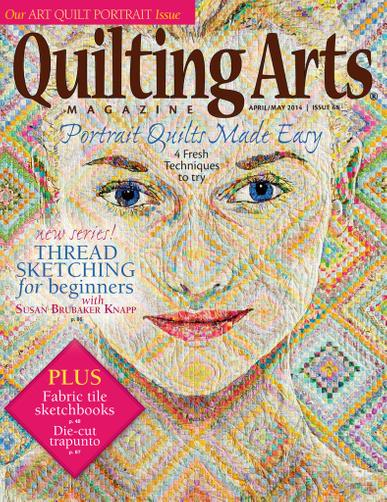 Quilting Arts Magazine March 12th, 2014 Issue Cover
