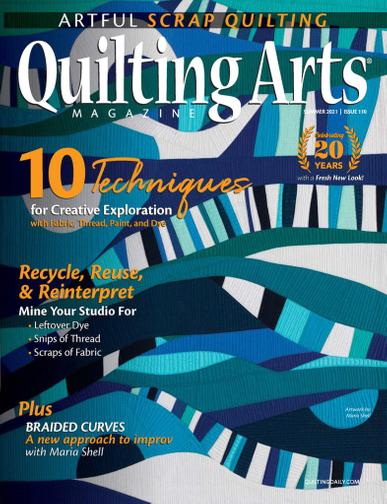 Quilting Arts Magazine May 20th, 2021 Issue Cover
