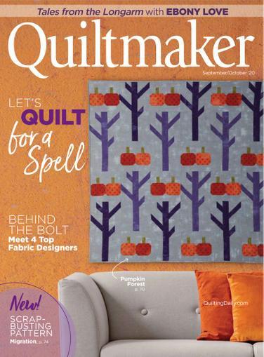 Quiltmaker Magazine September 1st, 2020 Issue Cover