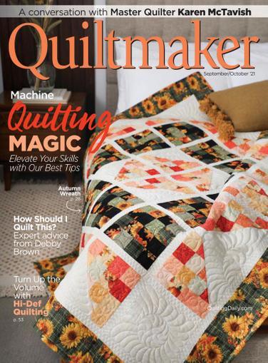 Quiltmaker Magazine September 1st, 2021 Issue Cover