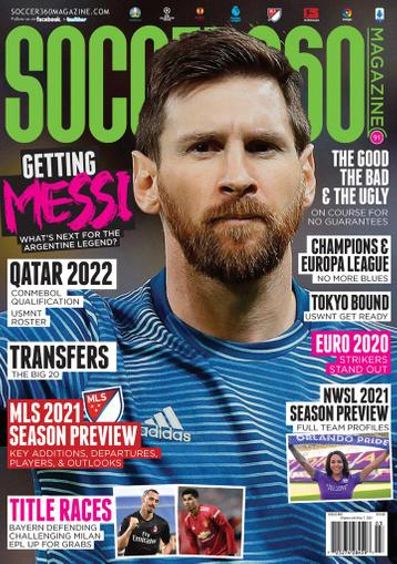 Soccer 360 Magazine March 1st, 2021 Issue Cover