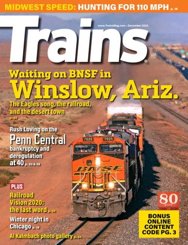 Trains Magazine December 1st, 2020 Issue Cover