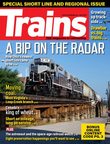 Trains Magazine April 1st, 2021 Issue Cover