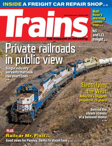 Trains Magazine October 1st, 2021 Issue Cover